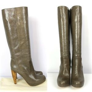 Loeffler Randall Taupe Leather Boots 9B NEW $850